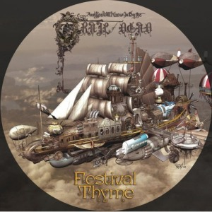 The picture disc cover for ...And You Will Know Us by the Trail of Dead's Festival Thyme EP